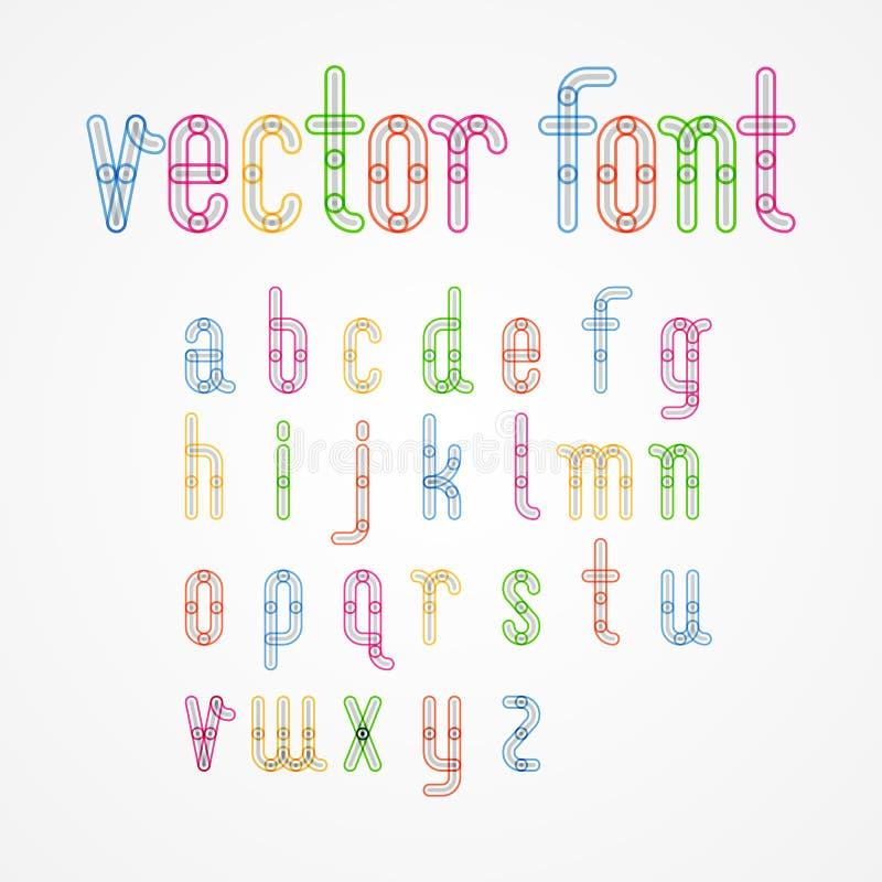 Πεζά ζωηρόχρωμα κεφαλαία γράμματα αλφάβητου Α στο ζ ελεύθερη απεικόνιση δικαιώματος