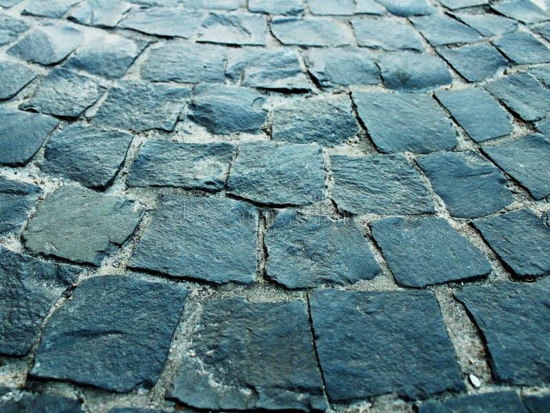 Πεζοδρόμιο, πεζοδρόμιο, γκρίζα εγκύκλιος πετρών στοκ εικόνες