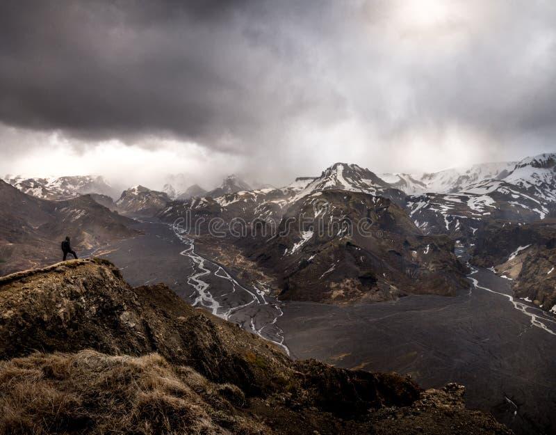 πεζοπορία Ισλανδία στοκ εικόνες