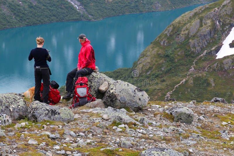 πεζοπορία Νορβηγία στοκ φωτογραφίες