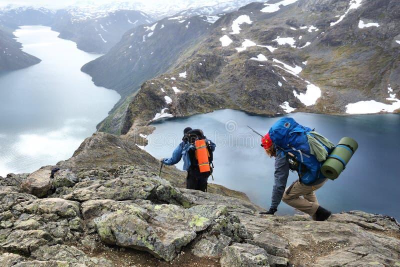 πεζοπορία Νορβηγία στοκ εικόνες
