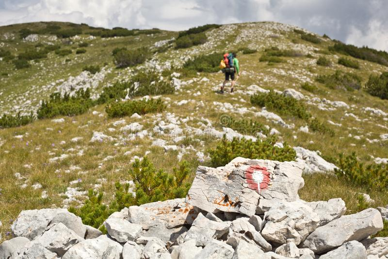 Πεζοπορία στα βουνά Vran - Βοσνία-Ερζεγοβίνη στοκ εικόνες