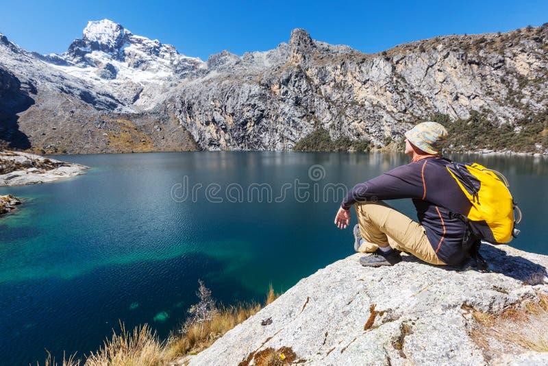 Πεζοπορώ στο Περού στοκ εικόνες