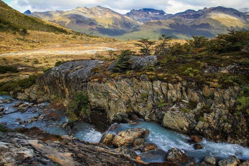Πεζοπορώ Laguna Esmeralda, Ushuaia, Γη του Πυρός, Αργεντινή στοκ εικόνα