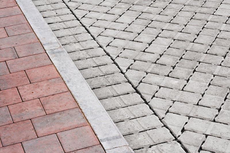 Πεζοδρόμιο και κίνηση τούβλου στοκ εικόνα
