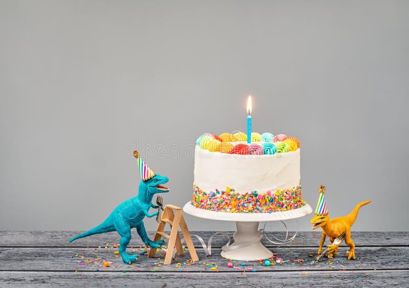 Γιορτή γενεθλίων δεινοσαύρων στοκ εικόνες