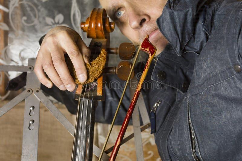 Πεινασμένο πορτρέτο μουσικών στοκ εικόνα