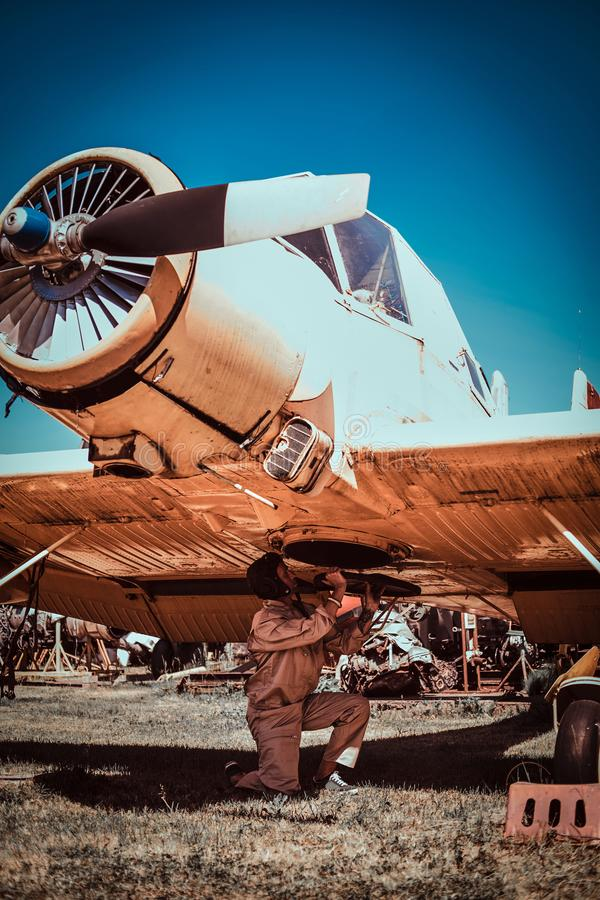 Πειραματικός το αεριωθούμενο αεροπλάνο του στοκ εικόνες