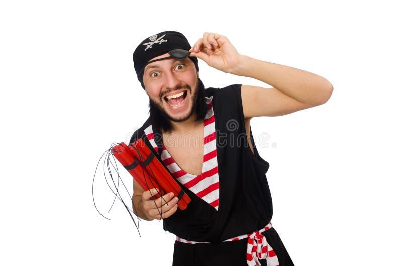 Download Πειρατής ατόμων που απομονώνεται στο άσπρο υπόβαθρο Στοκ Εικόνες - εικόνα από κόκκινος, άτομο: 62704582
