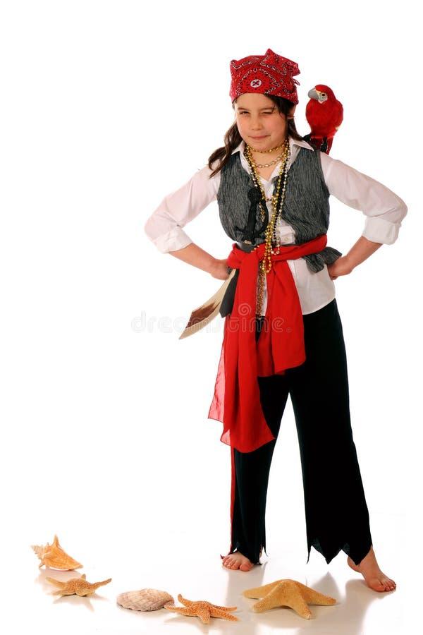 πειρατής κοριτσιών στοκ εικόνα