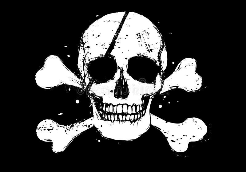 πειρατής μαύρων σημαιών απεικόνιση αποθεμάτων