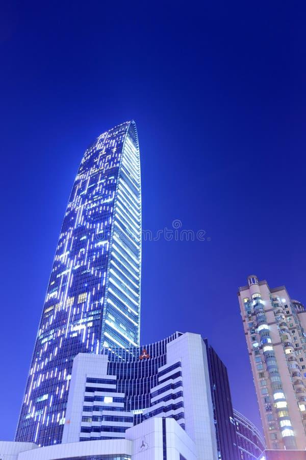 Πεκίνο-βασισμένη στο θέα νύχτας οικονομικών κέντρων στοκ εικόνες