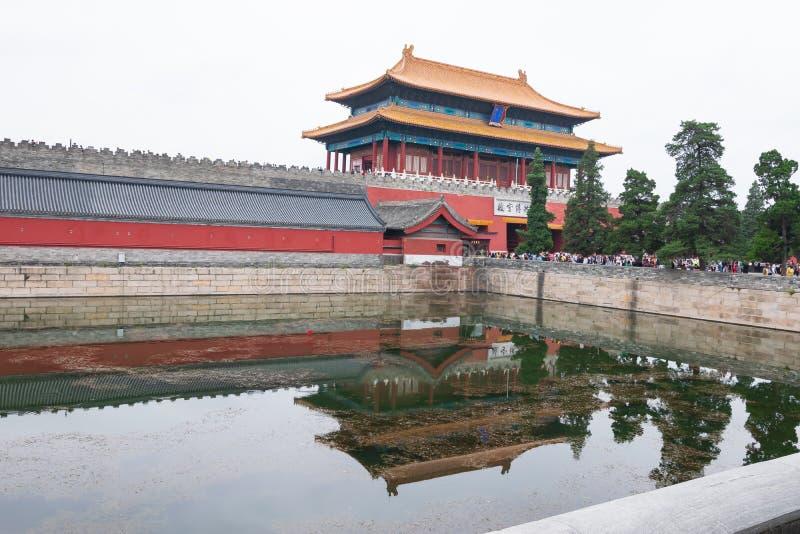 Πεκίνο, Κίνα - 20 Μαΐου 2018: Η άποψη λιμνών της απαγορευμένης πόλης που είναι ένα παλάτι σύνθετο στο κεντρικό Πεκίνο, Κίνα στοκ φωτογραφία