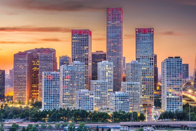 Πεκίνο, οικονομική εικονική παράσταση πόλης περιοχής της Κίνας στοκ φωτογραφίες