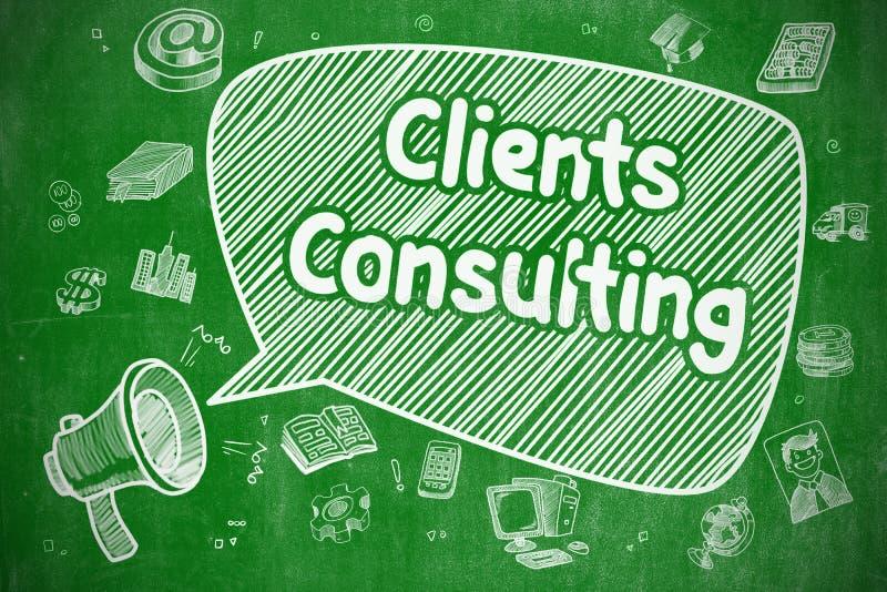 Πελάτες που συμβουλεύονται - επιχειρησιακή έννοια διανυσματική απεικόνιση