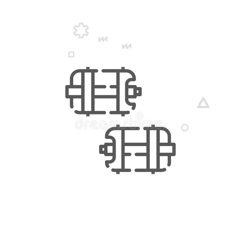 Πεντάλια ποδηλάτων με το διανυσματικό εικονίδιο γραμμών ακίδων, σύμβολο, εικονόγραμμα, σημάδι Ελαφρύ αφηρημένο γεωμετρικό υπόβαθρ διανυσματική απεικόνιση