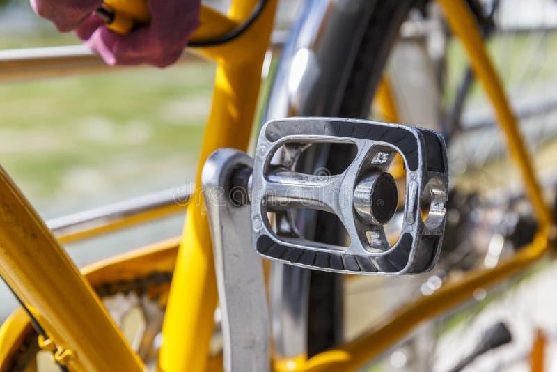 Πεντάλι ποδηλάτων closeup στοκ φωτογραφία με δικαίωμα ελεύθερης χρήσης
