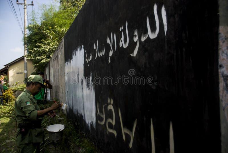 ΠΕΝΤΑΚΟΣΙΟΙ ΙΝΔΟΝΗΣΙΟΙ ΣΥΜΜΕΤΕΧΟΥΝ ISIS στοκ εικόνα