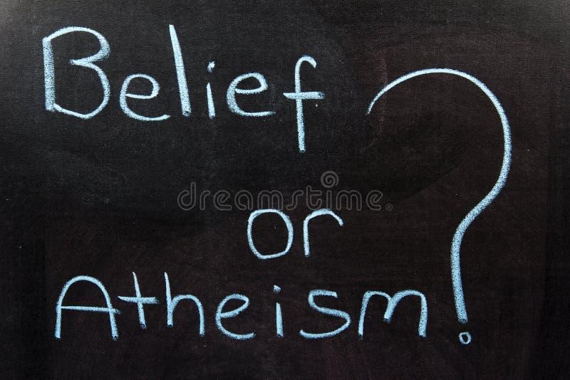 Πεποίθηση ή αθεϊσμός στοκ φωτογραφίες με δικαίωμα ελεύθερης χρήσης