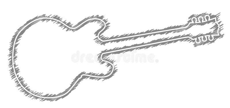 Περίγραμμα σκαριφήματος κιθάρας απεικόνιση αποθεμάτων