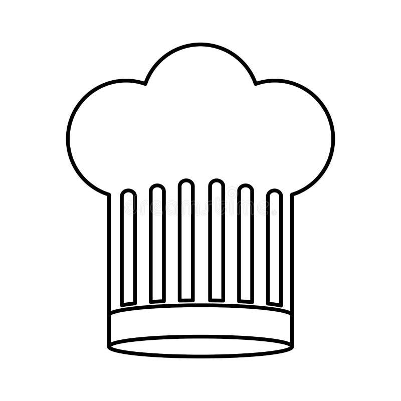 Περίγραμμα του καπέλου αρχιμαγείρων μεγάλο ελεύθερη απεικόνιση δικαιώματος
