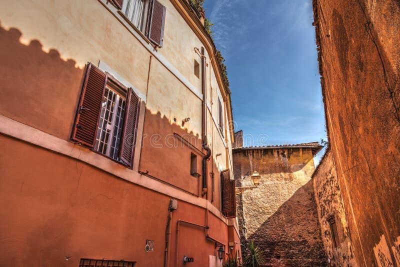 Περίεργα κτήρια σε Trastevere στοκ εικόνες