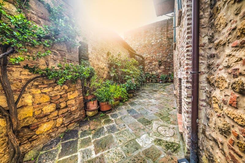 Περίεργη γωνία σε Monteriggioni στοκ φωτογραφίες με δικαίωμα ελεύθερης χρήσης