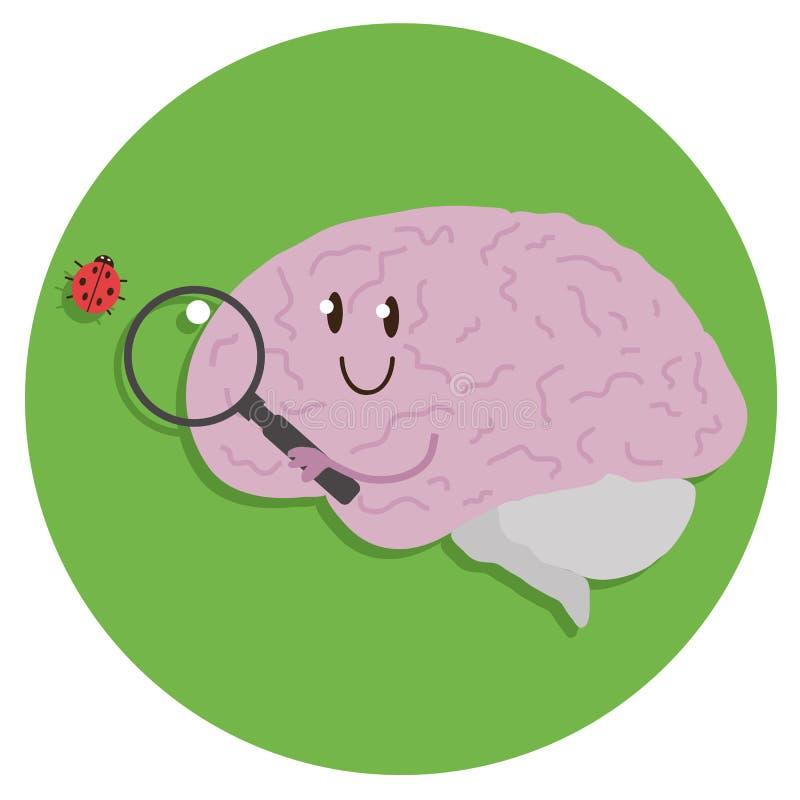 Περίεργος εγκέφαλος bipeds διανυσματική απεικόνιση