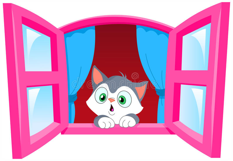 περίεργο γατάκι απεικόνιση αποθεμάτων