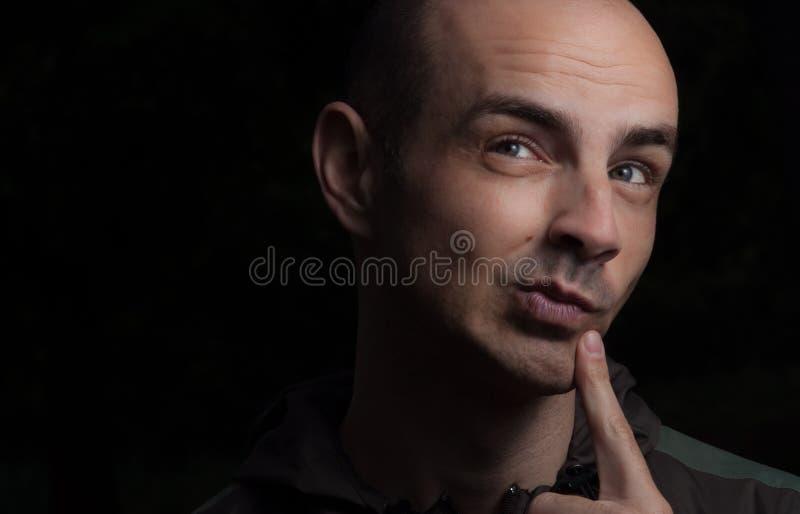 Περίεργο πορτρέτο ατόμων προσώπου στοκ φωτογραφία με δικαίωμα ελεύθερης χρήσης