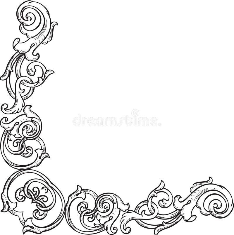 Περίκομψη βικτοριανή γωνία διανυσματική απεικόνιση