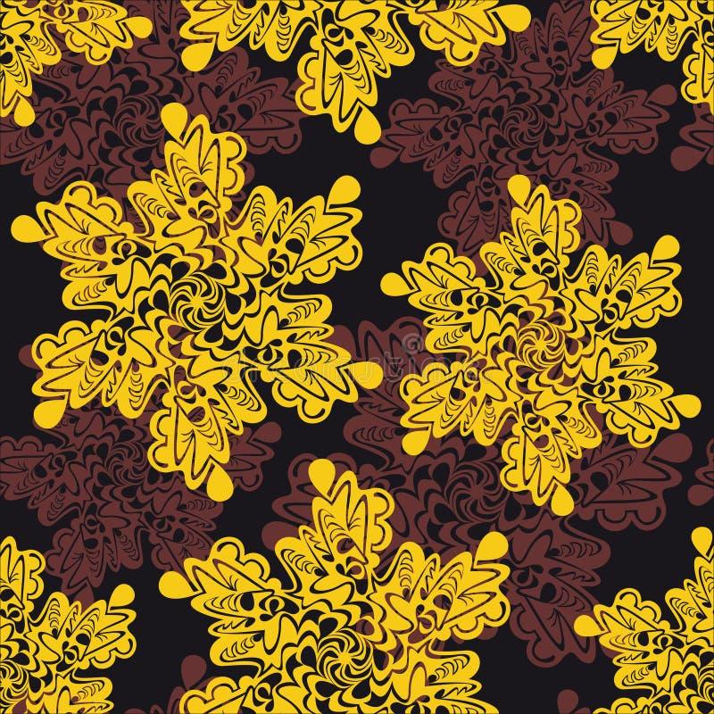 Περίκομψη floral άνευ ραφής σύσταση, διανυσματική απεικόνιση