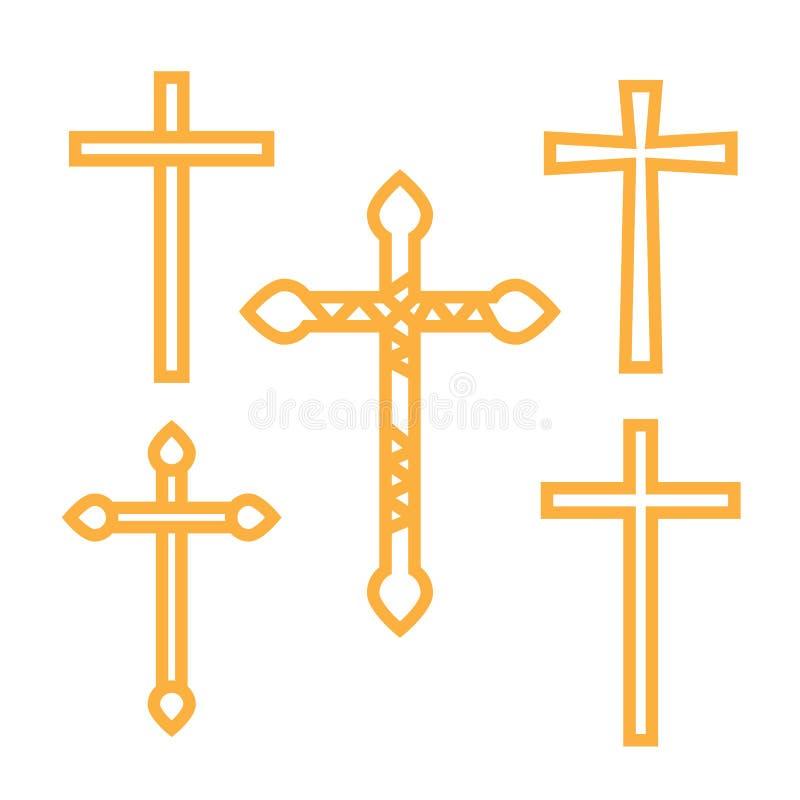 Περίκομψος χριστιανικός σταυρός διανυσματική απεικόνιση