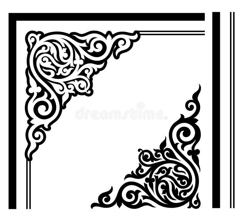 Περίκομψο, κομψό σχέδιο γωνιών διανυσματική απεικόνιση