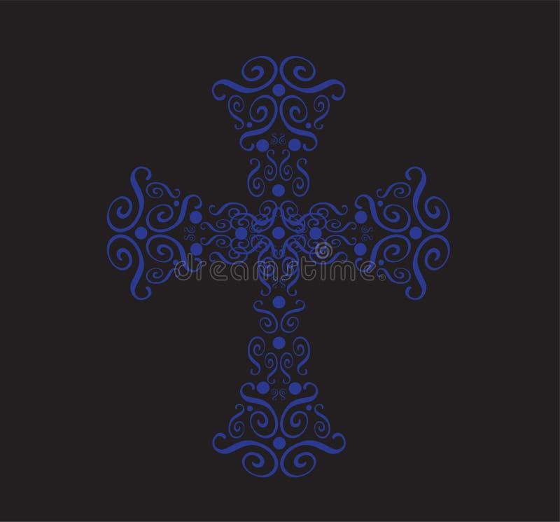 Περίκομψο χριστιανικό διαγώνιο διάνυσμα ελεύθερη απεικόνιση δικαιώματος