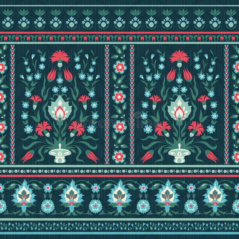 Περίκομψο floral σχέδιο στο ασιατικό ύφος απεικόνιση αποθεμάτων