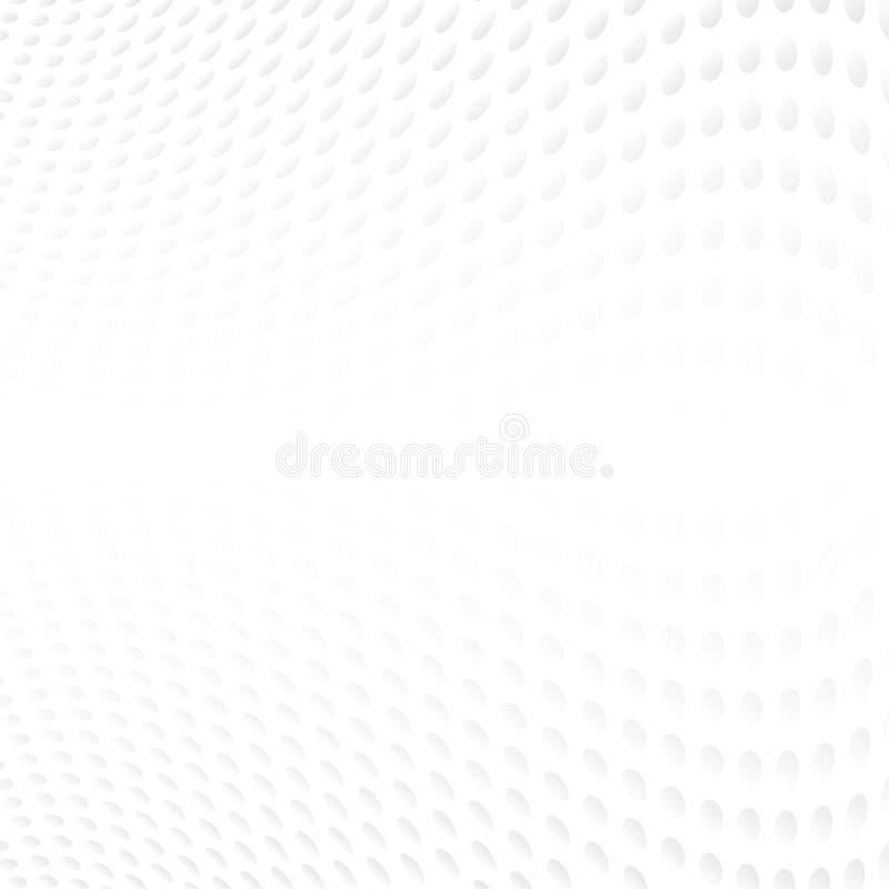 Περίληψη ημίτοή των γκρίζων σημείων Πόλκα καμπυλών στο άσπρο υπόβαθρο ελεύθερη απεικόνιση δικαιώματος