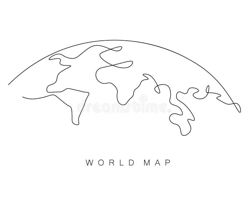 Περίληψη παγκόσμιων χαρτών, eart ημέρα, διανυσματική απεικόνιση ελεύθερη απεικόνιση δικαιώματος