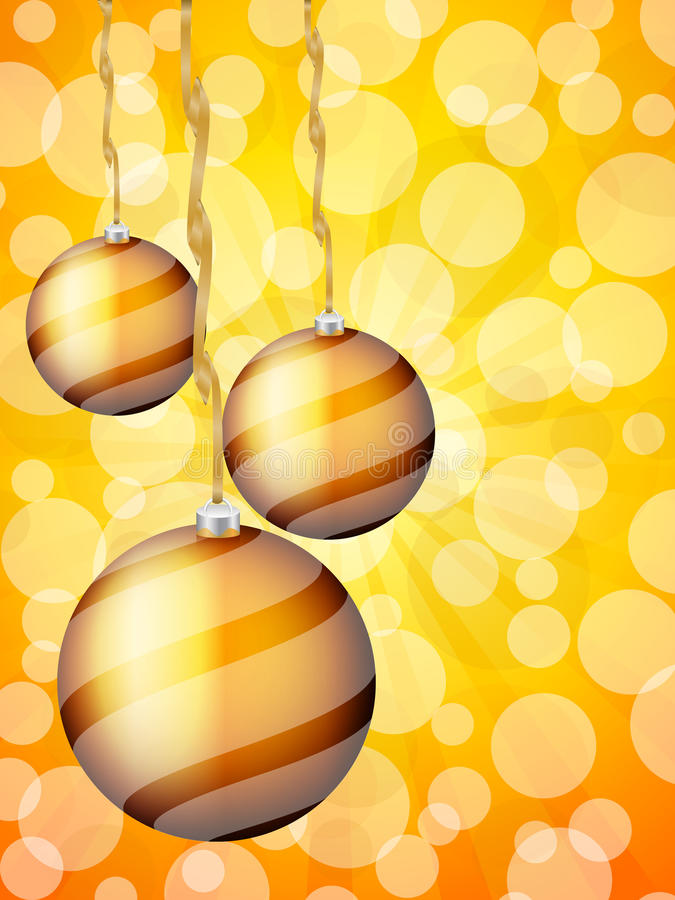 Περίληψη σφαιρών Χριστουγέννων bokeh απεικόνιση αποθεμάτων
