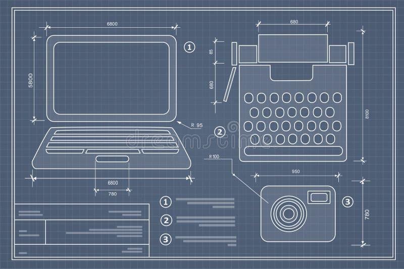 Περίληψη σχεδίων σχεδιαγραμμάτων απεικόνιση αποθεμάτων