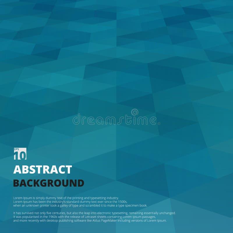 Περίληψη του υποβάθρου προοπτικής του μπλε σχεδίου μορφής κλίσης γεωμετρικού ελεύθερη απεικόνιση δικαιώματος
