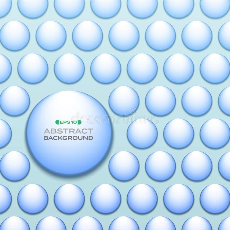 Περίληψη του υποβάθρου σχεδίων κύκλων χρώματος aqua κλίσης απεικόνιση αποθεμάτων