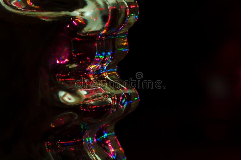 Περίληψη: Φως της τεχνολογίας που λάμπει στη μαυρίλα στοκ φωτογραφίες με δικαίωμα ελεύθερης χρήσης