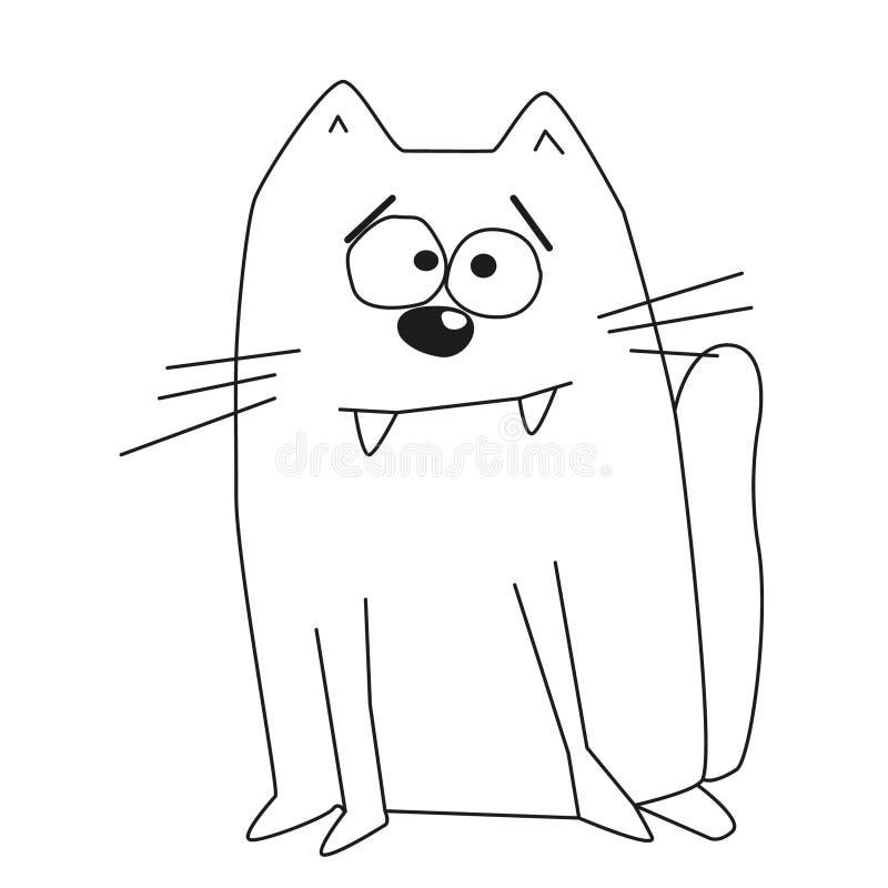 Περίληψη χαριτωμένου λίγη γάτα με τα ευρέα φρύδια ελεύθερη απεικόνιση δικαιώματος