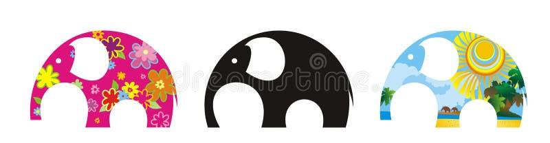 περίληψη elefants τρία ελεύθερη απεικόνιση δικαιώματος