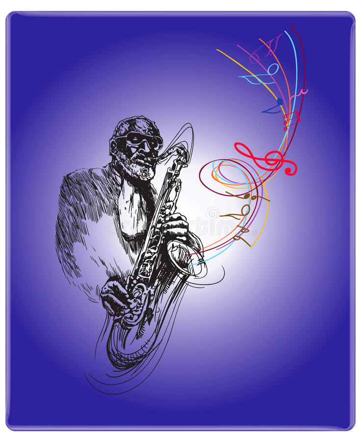 περίοδος επικοινωνίας τζαζ διανυσματική απεικόνιση