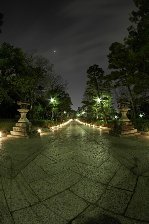 Περίπατος ναών του Κιότο στοκ φωτογραφίες