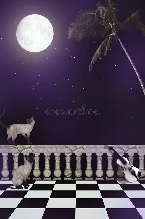 περίπατος νύχτας διανυσματική απεικόνιση