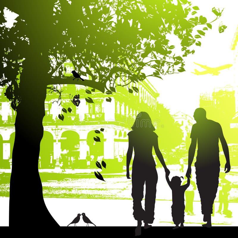 περίπατος οικογενεια&kap απεικόνιση αποθεμάτων