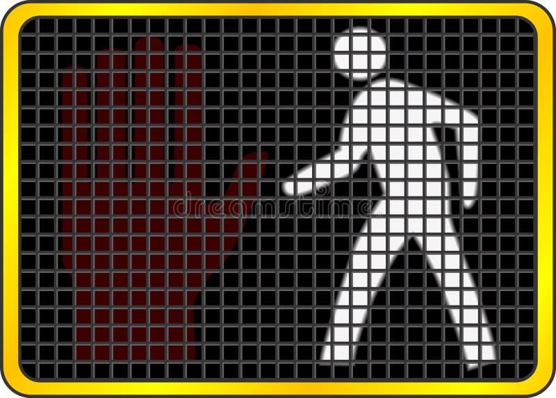 περίπατος σημαδιών απεικόνιση αποθεμάτων
